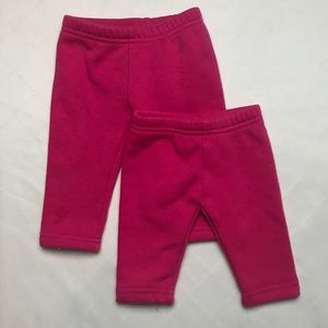 Set of 2 fleece lined leggings 3m and 6m Carter's